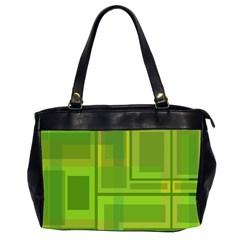 Green pattern Office Handbags (2 Sides)