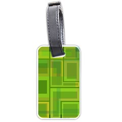 Green pattern Luggage Tags (One Side)