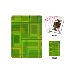 Green pattern Playing Cards (Mini)
