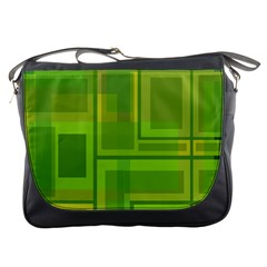 Green pattern Messenger Bags