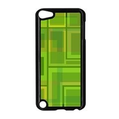 Green pattern Apple iPod Touch 5 Case (Black)