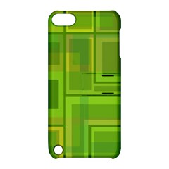 Green pattern Apple iPod Touch 5 Hardshell Case with Stand