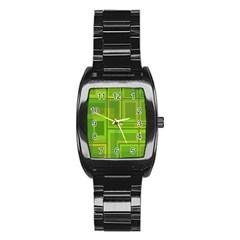 Green pattern Stainless Steel Barrel Watch