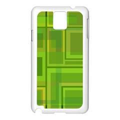 Green pattern Samsung Galaxy Note 3 N9005 Case (White)