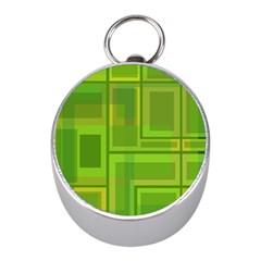 Green pattern Mini Silver Compasses