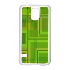 Green pattern Samsung Galaxy S5 Case (White)