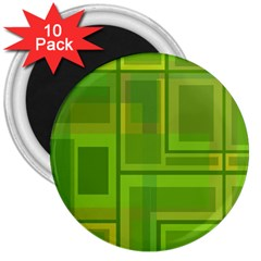 Green pattern 3  Magnets (10 pack)