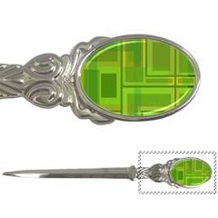 Green pattern Letter Openers
