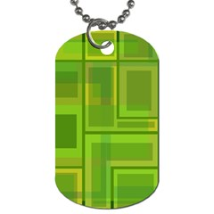 Green pattern Dog Tag (One Side)
