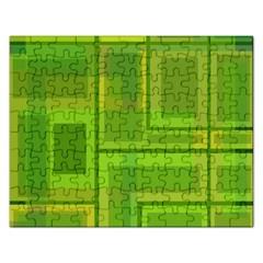 Green pattern Rectangular Jigsaw Puzzl