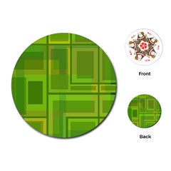 Green pattern Playing Cards (Round)