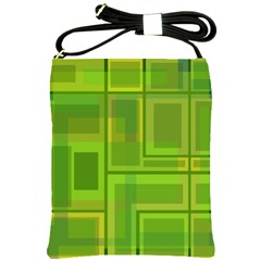 Green pattern Shoulder Sling Bags