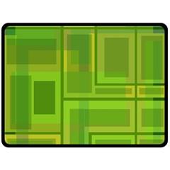 Green pattern Fleece Blanket (Large)