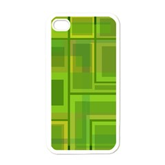 Green pattern Apple iPhone 4 Case (White)
