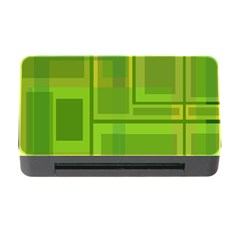 Green pattern Memory Card Reader with CF