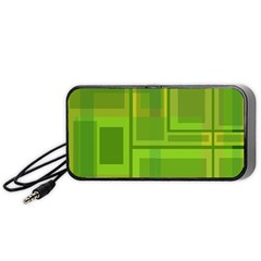 Green pattern Portable Speaker (Black)
