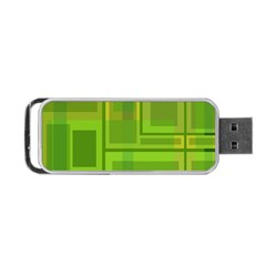 Green pattern Portable USB Flash (One Side)
