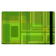 Green pattern Apple iPad 2 Flip Case