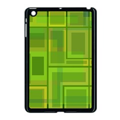 Green pattern Apple iPad Mini Case (Black)