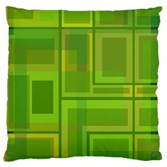 Green pattern Large Flano Cushion Case (One Side)
