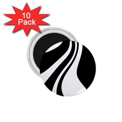 Black and white pattern 1.75  Magnets (10 pack)