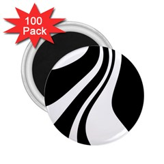 Black and white pattern 2.25  Magnets (100 pack)