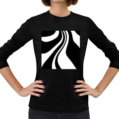 Black and white pattern Women s Long Sleeve Dark T-Shirts