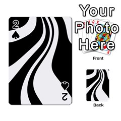Black and white pattern Playing Cards 54 Designs