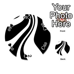 Black and white pattern Playing Cards 54 (Round)