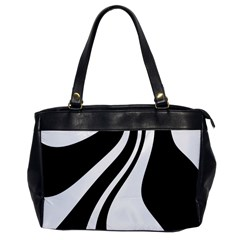 Black and white pattern Office Handbags