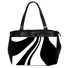 Black and white pattern Office Handbags (2 Sides)