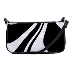 Black and white pattern Shoulder Clutch Bags