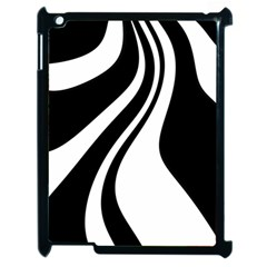 Black and white pattern Apple iPad 2 Case (Black)
