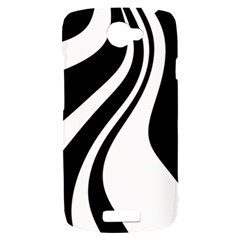 Black and white pattern HTC One S Hardshell Case