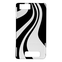 Black and white pattern Motorola DROID X2