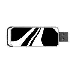 Black and white pattern Portable USB Flash (One Side)