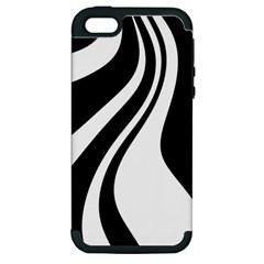 Black and white pattern Apple iPhone 5 Hardshell Case (PC+Silicone)