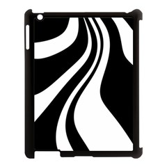 Black and white pattern Apple iPad 3/4 Case (Black)