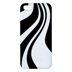 Black and white pattern Apple iPhone 5 Premium Hardshell Case