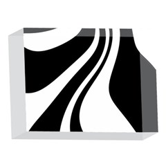 Black and white pattern 5 x 7  Acrylic Photo Blocks