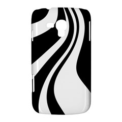 Black and white pattern Samsung Galaxy Duos I8262 Hardshell Case