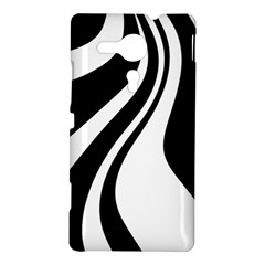 Black and white pattern Sony Xperia SP