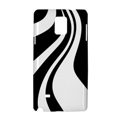 Black and white pattern Samsung Galaxy Note 4 Hardshell Case