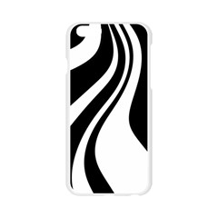 Black and white pattern Apple Seamless iPhone 6/6S Case (Transparent)