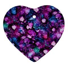 Underwater Garden Heart Ornament (2 Sides)