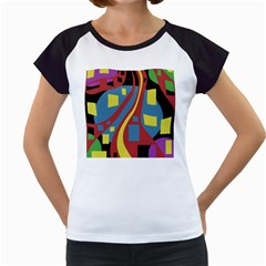 Colorful abstrac art Women s Cap Sleeve T