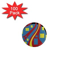 Colorful abstrac art 1  Mini Magnets (100 pack)