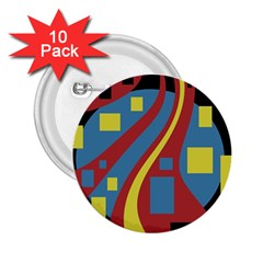 Colorful abstrac art 2.25  Buttons (10 pack)