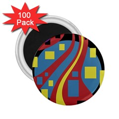Colorful abstrac art 2.25  Magnets (100 pack)
