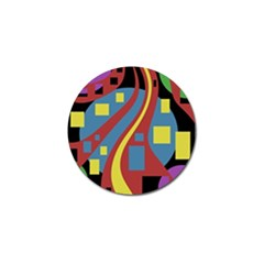 Colorful abstrac art Golf Ball Marker